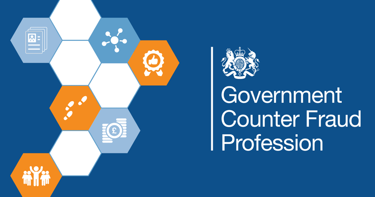 Image of the Government Counter Fraud Profession logo.
