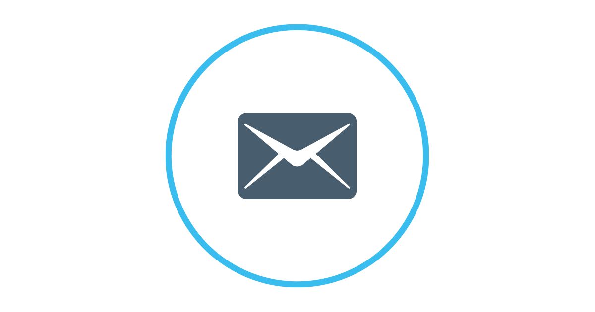 Image of email disclaimer icon.