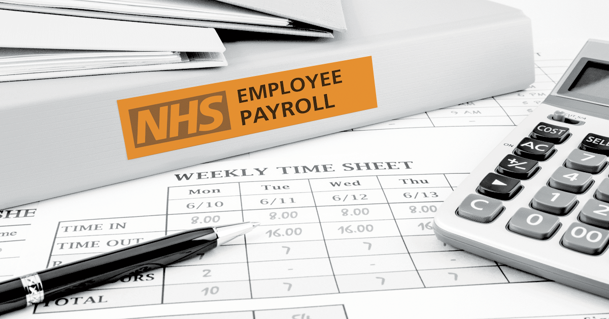 Image showing NHS employee staff timesheets.