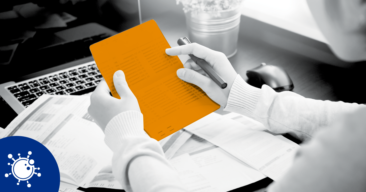 Image of a person holding a document