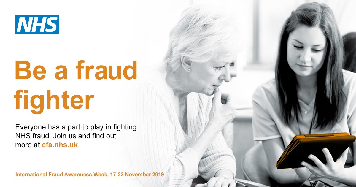 NHSCFA's 'Be a fraud fighter' image.