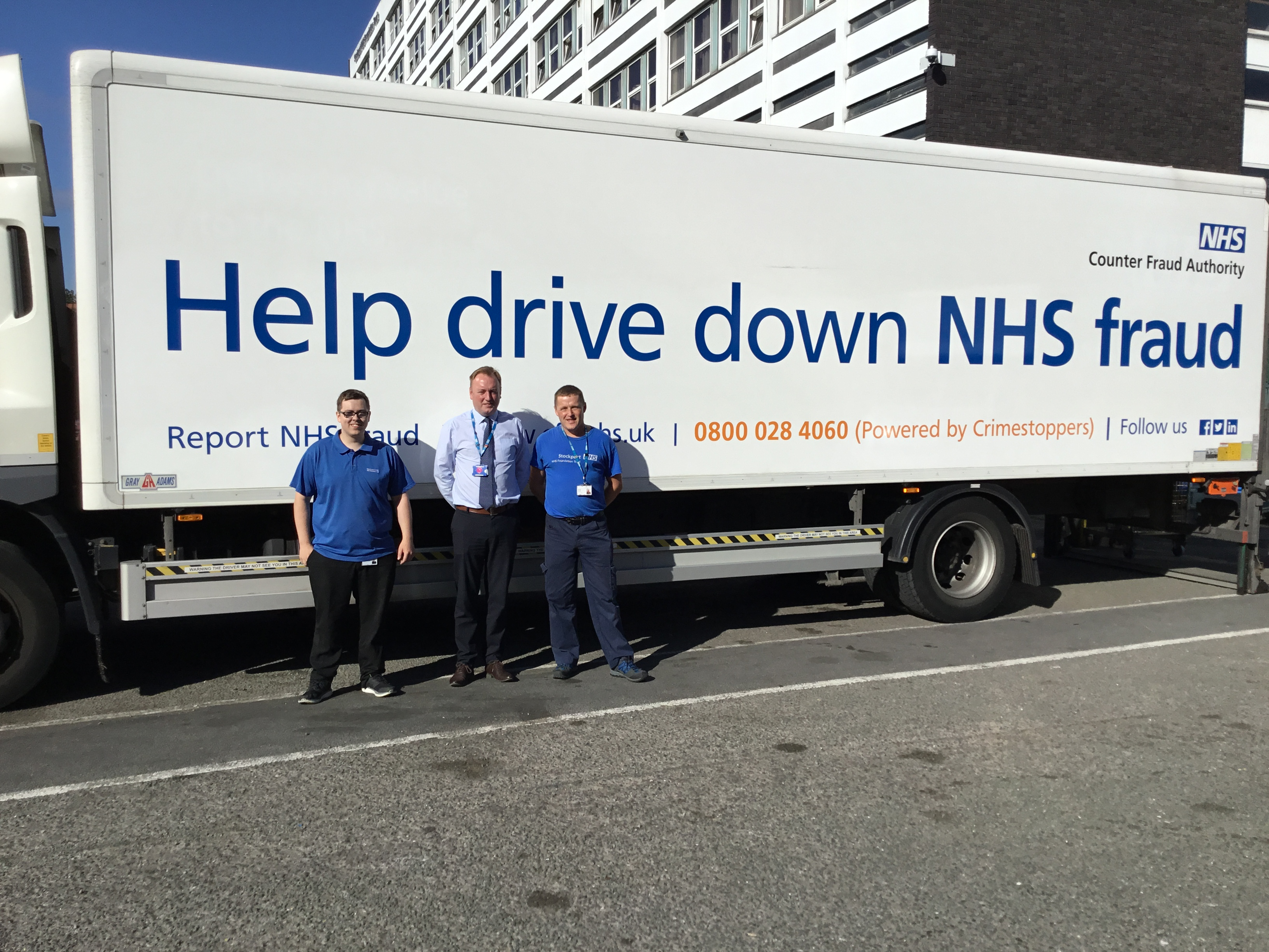 Trucks deliver NHS fraud message